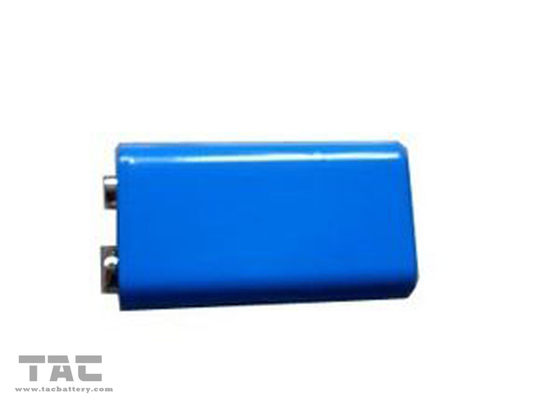 9V Lithium Ion Cylindrical Battery  220mAh Rechargeable for Toy