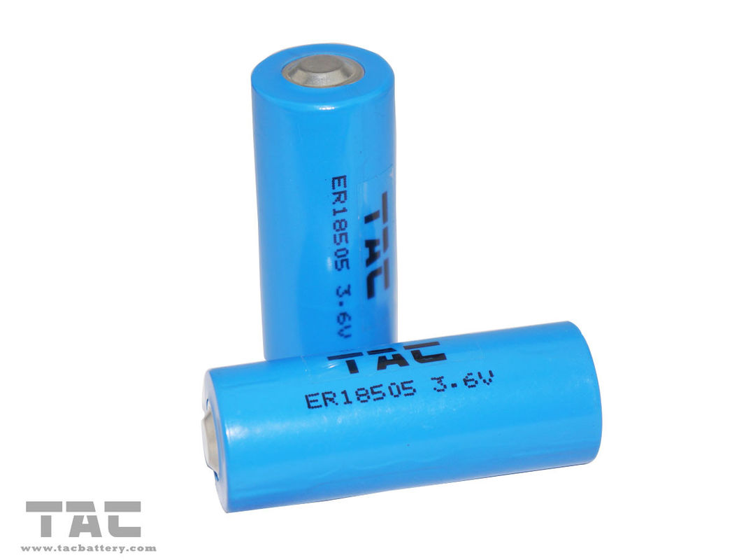 High Capacity 3.6V ER18505 3600mAh LiSOCL2 Battery for Utility meter , Teal time clock