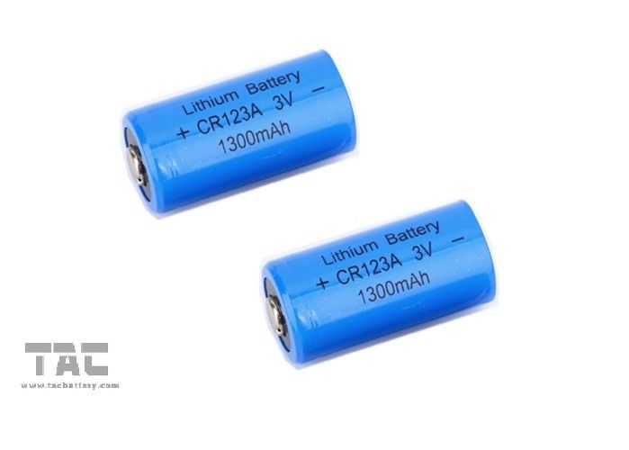 High Energy Density Lithium Battery 3.0V CR123A 1300mAh Flash Light