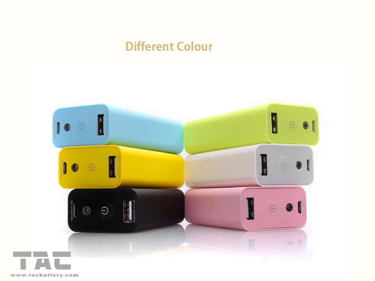 Long Life External Battery Power Bank 5200mah With Led Light For Mobile Phone