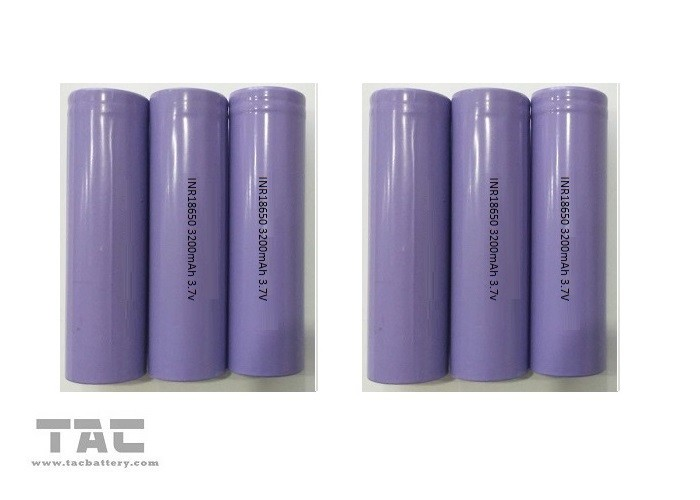 18*65MM Li - Ion Cylindrical Battery 18650 3.7 Volts 3200mAh For Pass BSMI