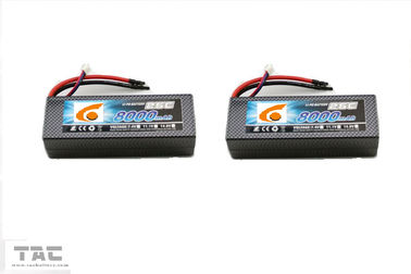 Bloco 11.1v 25C 8000mah 6484165 da bateria do polímero do lítio do helicóptero do UAV RC